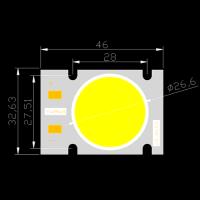 YUHUA COB定制高光效光源 路灯 投光灯 体育照明 YH3146-50-2