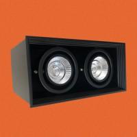 炜圣照明 2x5W7W9W12W射灯 MR16铁材二位明装射灯筒灯室内商照角度24°