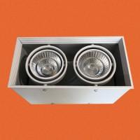 炜圣照明 2x9W射灯 AR70铁材两位明装射灯筒灯室内天花灯商照角度24°