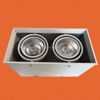 炜圣照明 2x15W射灯 AR70铁材两位明装射灯筒灯室内天花灯商照角度24°