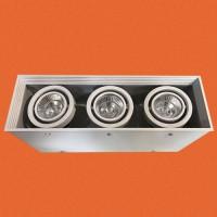 炜圣照明 3x7W射灯 MR16铁材三位位明装射灯筒灯室内天花灯商照角度24°