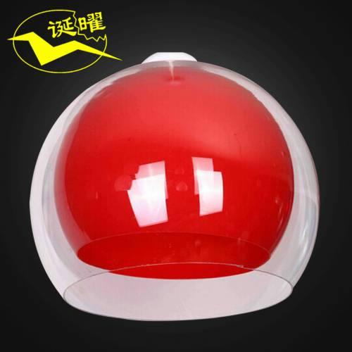 厂家批发现代个性创意田园红色波纹球吊灯压克力圆球餐吊灯吊线灯