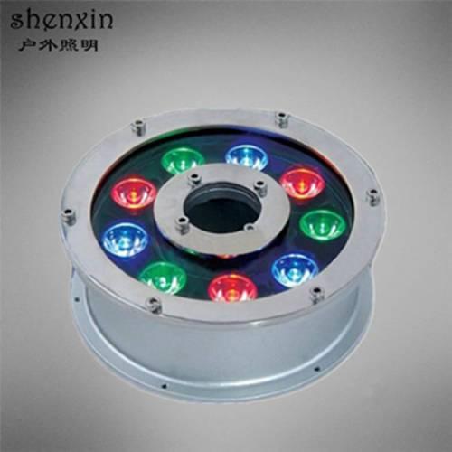 LED喷泉灯 RGB七彩水下灯6W 9W 12W 15W 18W水池亮化