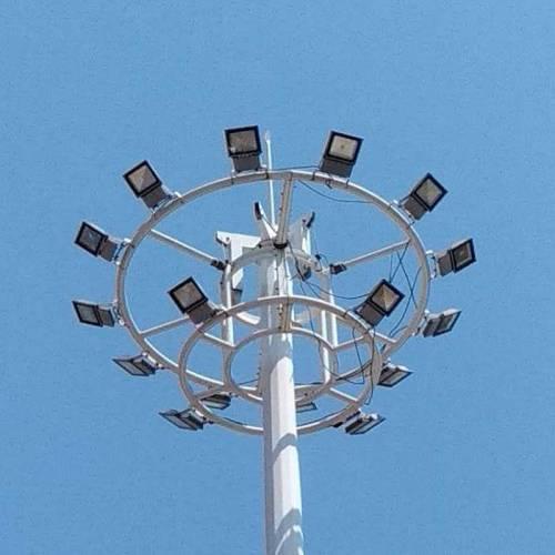 厂家生产18米升降广场灯体育场灯15米足球场中杆灯led25米高杆灯