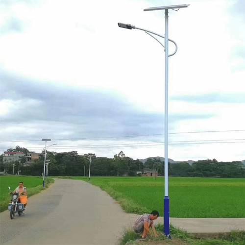 厂家直销新农村太阳能路灯价格 6米30W工程款海螺臂现货扶贫项目