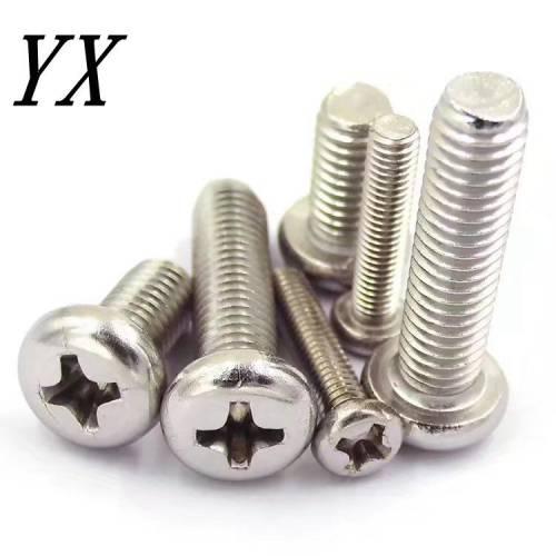 【批发】GB818  201不锈钢圆头十字机丝 盘头螺丝 机牙螺丝 M3-M6