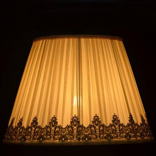 批发 E27 16寸台灯罩 温馨浪漫卧室装饰落地灯罩褶皱雪纺台灯灯罩