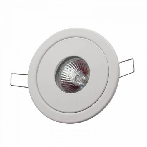 厂家直销GU10G5.3COB灯杯铁白聚光可调酒店工程天花灯外壳套件