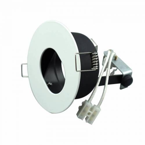 MR16灯杯可调不可调带预埋筒椭圆口铁白射灯支架嵌入式COB天花灯