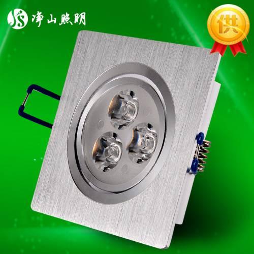 天花射灯外壳套件 厂家现货方形天花灯 led大功率天花灯外壳配件