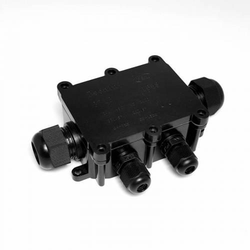 IP68户外路灯防水接线盒 一进三出电缆线防水盒  多头定制