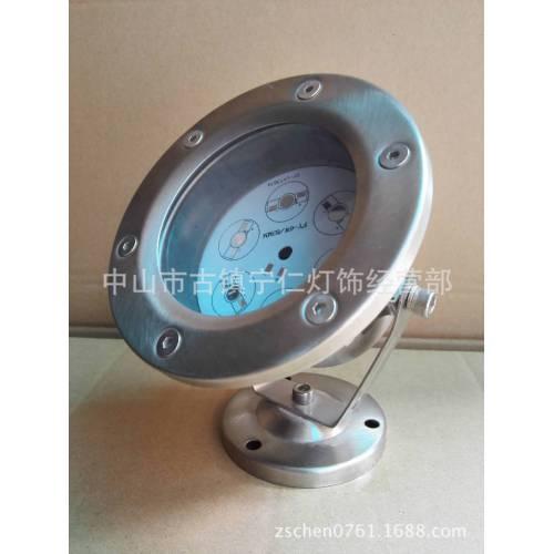 5W6W7W水底灯外壳套件、圆形120水底灯外壳,304不锈钢水下灯配件