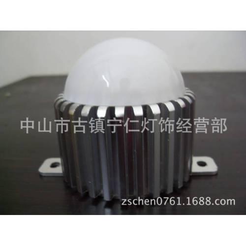圆70车铝点光源外壳、LED大功率跑马灯配件、LED套件