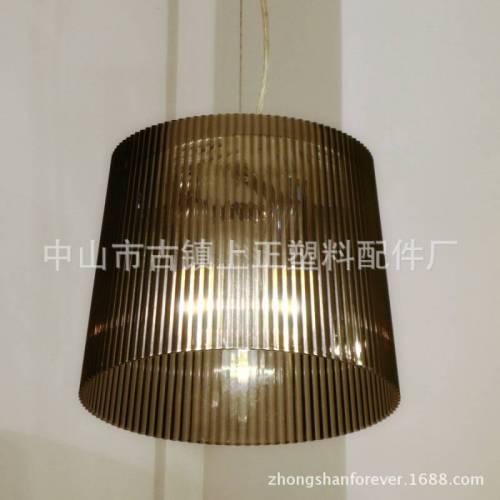 厂家直销 现代简约竖条纹圆形压克力吊灯灯罩 053D 小号