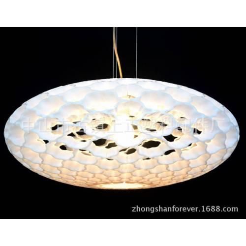 厂家直销 现代简约蜂窝扁圆球压克力吊灯灯罩 051