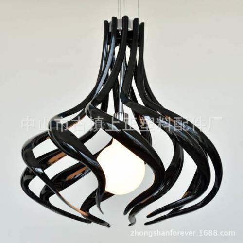 厂家直销 现代简约灵动螺旋线条压克力吊灯灯罩 086