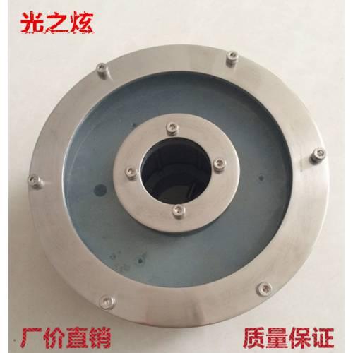 厂家直销 6W喷泉灯外壳套件 直径130mm全不锈钢水底灯 喷泉灯外壳