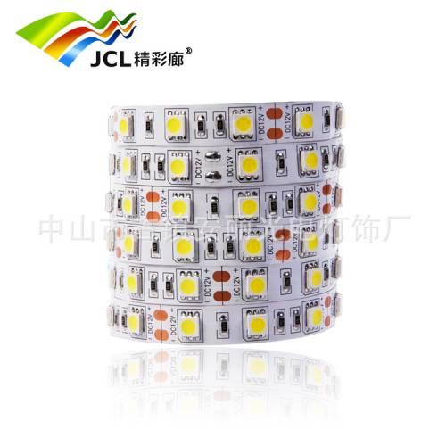 厂家直销 低压5050高亮60灯珠led软灯带室内装饰LED柜台 12V灯条