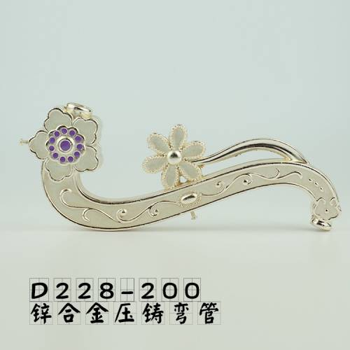 锌合金压铸花纹弯管弯臂壁灯吊灯工艺装饰灯饰灯具配件D228-200