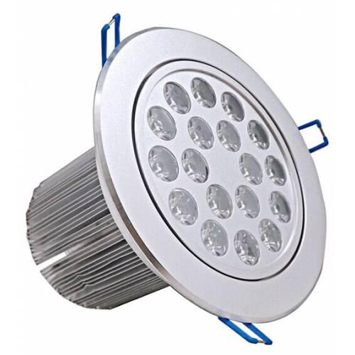 18WLED天花灯外壳 铝材老款外径160高光沙银面15WLED天花射灯套件