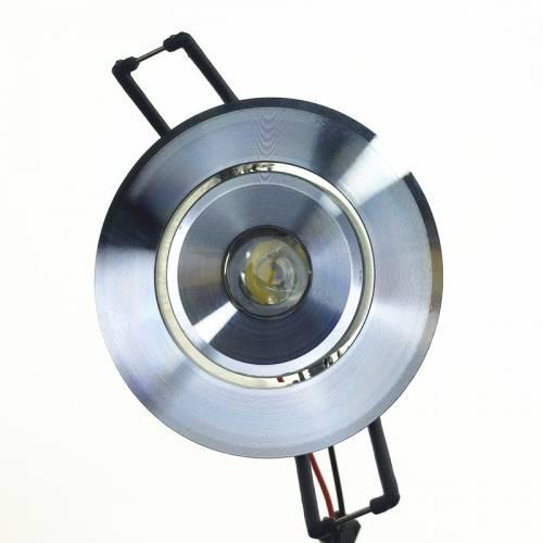 小1W大功率LED天花灯外壳 铝高光砂银开孔55单颗1-3W天花射灯套件