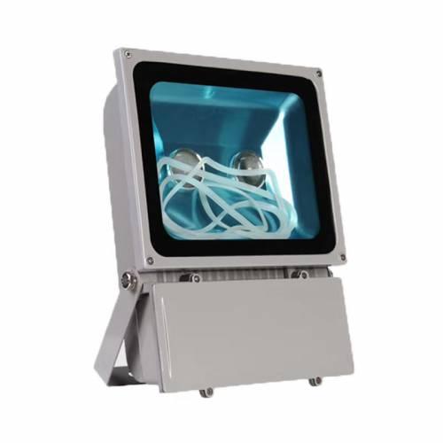 100WLED投光灯外壳 2*50W双光源透镜款IP65足瓦厚料LED泛光灯套件