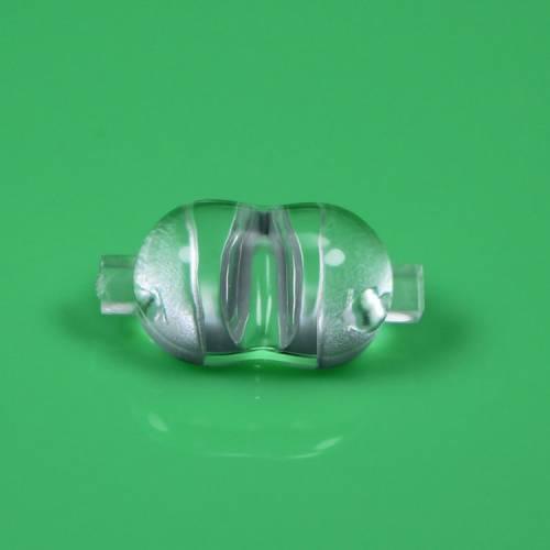 LED路灯透镜 XPE花生米透镜 亚克力45*120度路灯3030透镜
