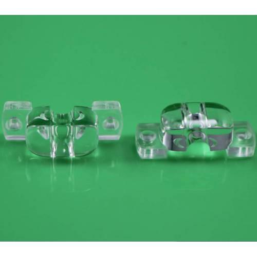 LED光学透镜 花生米有孔或无孔路灯透镜 60*120°仿流明LED棱镜