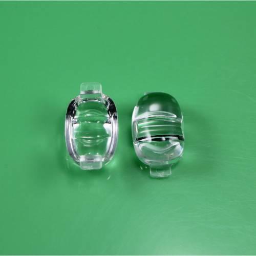 LED光学透镜 花生米路灯透镜 亚克力仿流明单颗LED棱镜