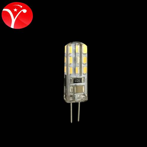 G4 220V 1.5W 24珠 灯珠LED玉米小灯泡水晶灯光源硅胶220V插泡g4