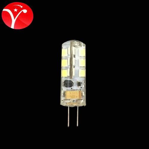 G4 12V 3W 24珠 灯珠水晶灯光源硅胶g4 led灯珠 LED玉米小灯泡