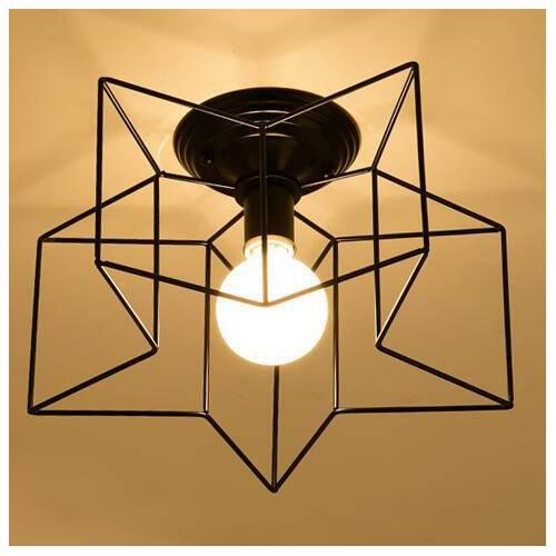 五角星现代创意玄关灯具客厅阳台走廊灯过道灯led吸顶灯餐厅灯饰