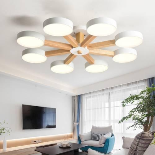 北欧吊灯实木创意马卡龙客厅简约现代风格卧室灯具ins网红餐厅灯