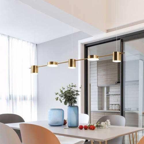 北欧后现代餐厅吊灯饰简约LED办公室工作一字酒吧台饭厅轻奢灯具
