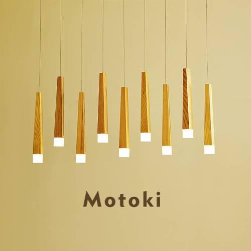 北欧风格LED实木餐厅灯创意服装店吧台奶茶店铺原木日式饭厅吊灯