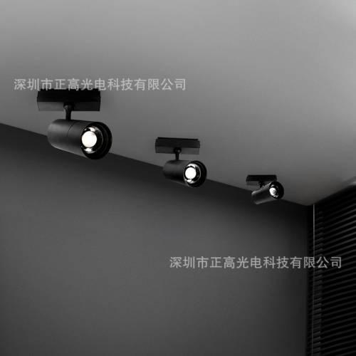 磁吸轨道线条射灯服装店嵌入式明装无主LED筒灯别墅会所商用灯具
