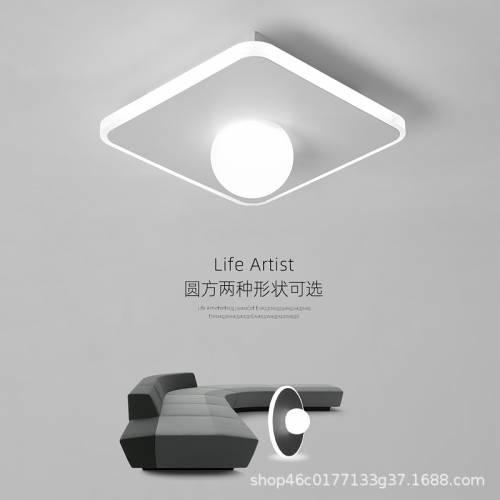 过道简约现代走廊灯玄关灯嵌入式射灯创意水晶筒灯门厅入户灯