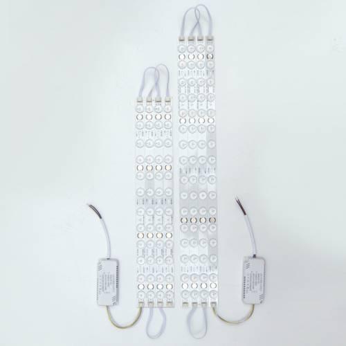 新款2835LED透镜模组光源厂家直供创意款吸顶灯长方形圆形光源板