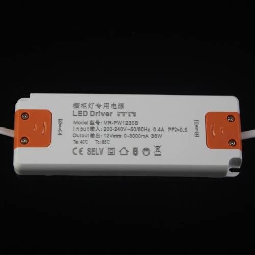12V橱柜灯电源 36W超薄橱柜灯变压器led灯带灯条专用