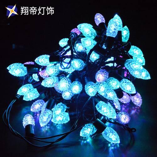 LED闪泡灯串松果变光节日装饰灯圣诞灯饰灯光节灯展装饰 灯具直销