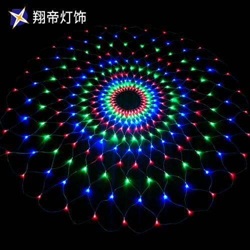 LED闪泡网灯变光节日装饰灯圣诞灯饰灯光节灯展装饰 灯具直销