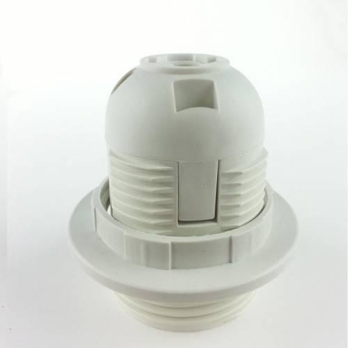 灯头,E27E27卡式全牙灯头塑胶灯头台灯欧规塑料灯座