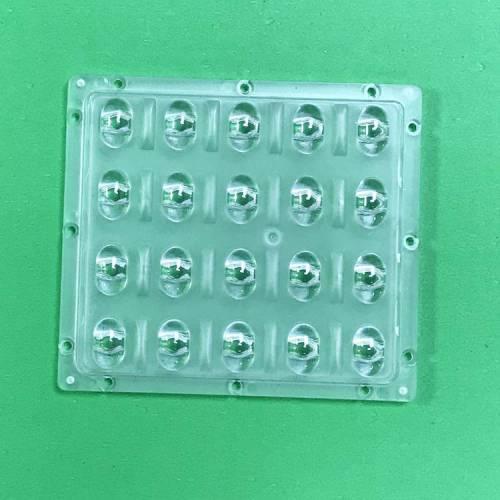 定制LED路灯连体透镜 20W户外正方形隧道投光灯工矿灯光学级透镜