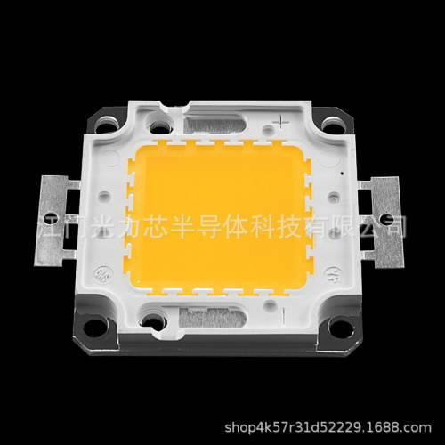 LED大功率灯珠50W正白光暖白冷白自然白椭圆形纯铜支架纯金线